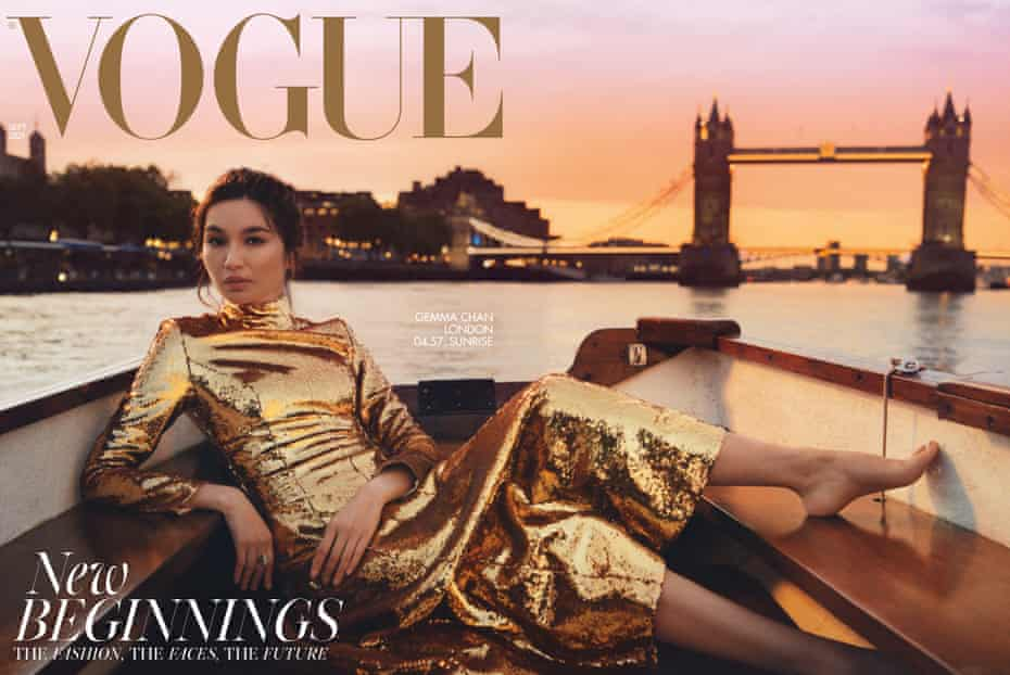 'All things sparkly' … Gemma Chan on the cover of British Vogue's September 2021 issue.