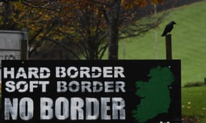 A sign in Derry calling for no border with Ireland