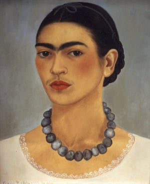 Self-portrait with Necklace, 1933 by Frida Kahlo.