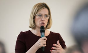 The home secretary, Amber Rudd, speaks at counter-terrorism event in San Francisco last August.