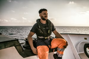 Hassan Ali Sayed Salem, of SOS Méditerranée, at the end of the first day of exercises