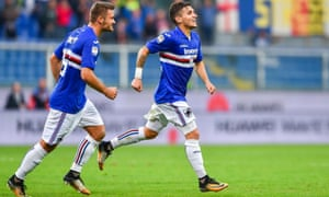 Lucas Torreira, right, and Karol Linetty have built an impressive understanding in a well-balanced Sampdoria midfield alongside the more creative Dennis Praet.