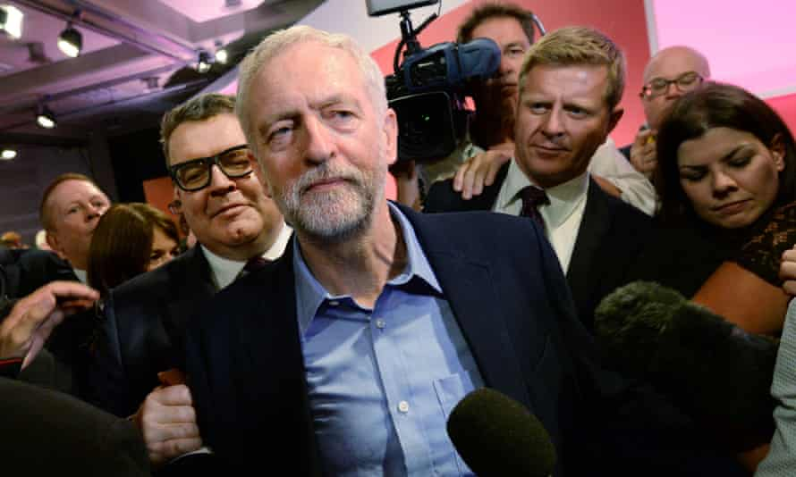Jeremy Corbyn following his election as Labour party leader in September 2015.