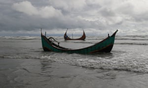 At least 16 people died after a boat sank off Bangladesh. Dozens are still missing. Boats such as the ones pictured have been used by traffickers in the region in the past.