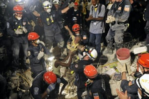 On 19 January 2010, seven days after a 7.0 magnitude earthquake hit and devastated Port au Prince, Haiti, the New York City urban search and rescue, along with Virginia rescue, saved a young boy named Kiki who had been trapped in the rubble of his home