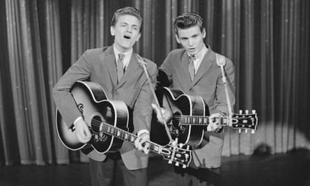 The Everly Brothers on The Ed Sullivan Show in 1957