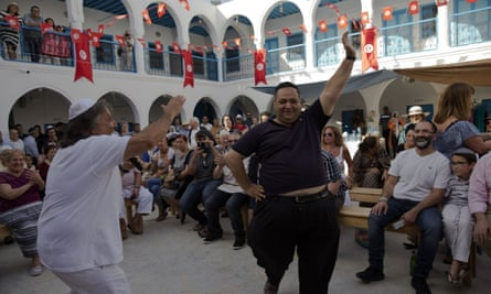 A celebration at the Ghriba synagogue in Djerba.