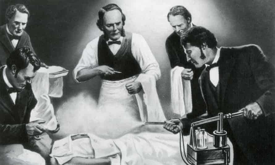 Joseph Lister and his assistants.