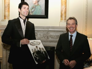 Perry Farrell at a Downing Street reception with Tony Blair
