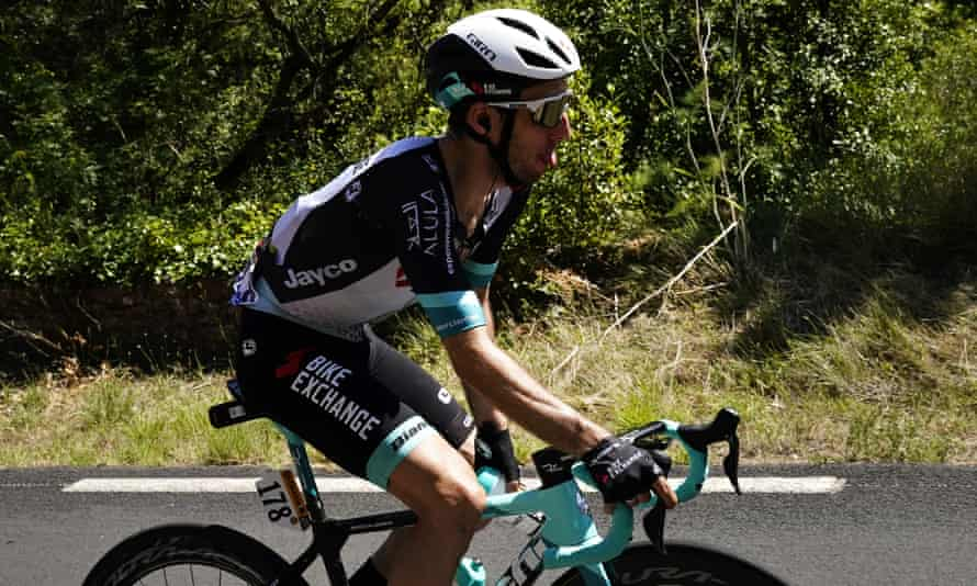 Simon Yates on the 13th stage of the 2021 Tour de France.