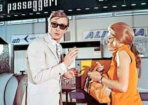 Michael Caine and Maggie Blye in The Italian Job.