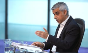 Sadiq Khan at his first mayor's questions on Wednesday.