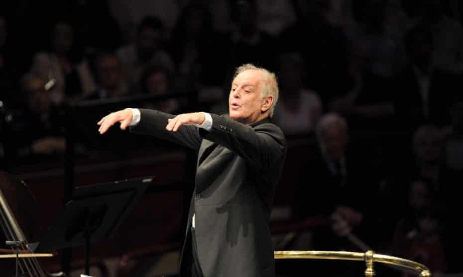 Fruitful programming … Daniel Barenboim conducts at the Proms.