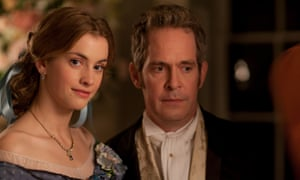 Stefanie Martini and Tom Hollander in Doctor Thorne