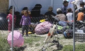 The Idomeni refugee camp in Greece