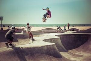 Venice Beach skatepark, Los Angeles. USA