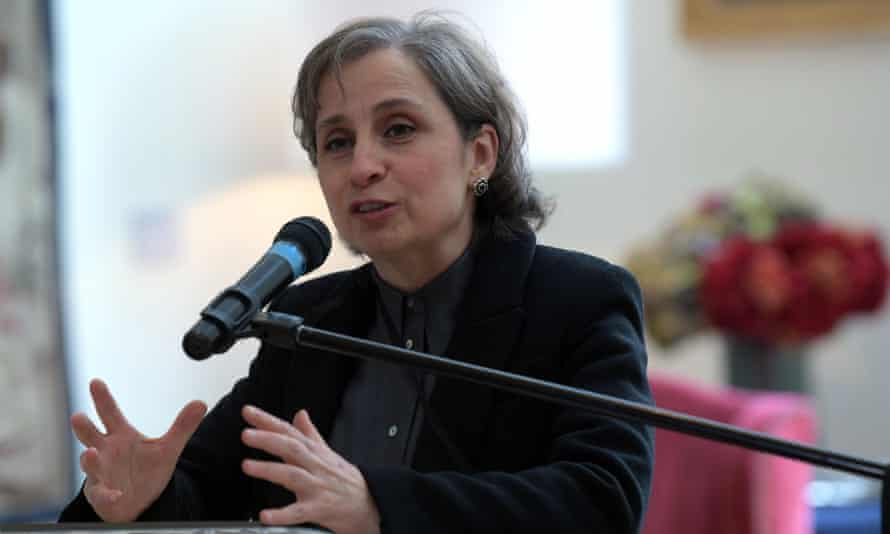 A jornalista mexicana Carmen Aristegui.