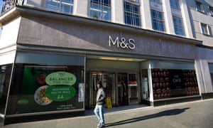 A Marks & Spencer store in Bedford, one of many outlets earmarked for closure.