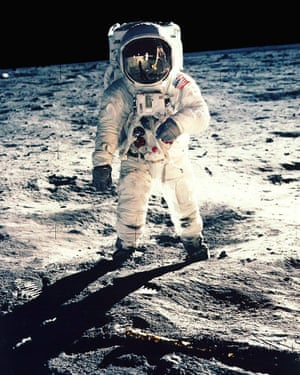Apollo 11 Astronaut Neil Armstrong sets foot on the moon, July 1969