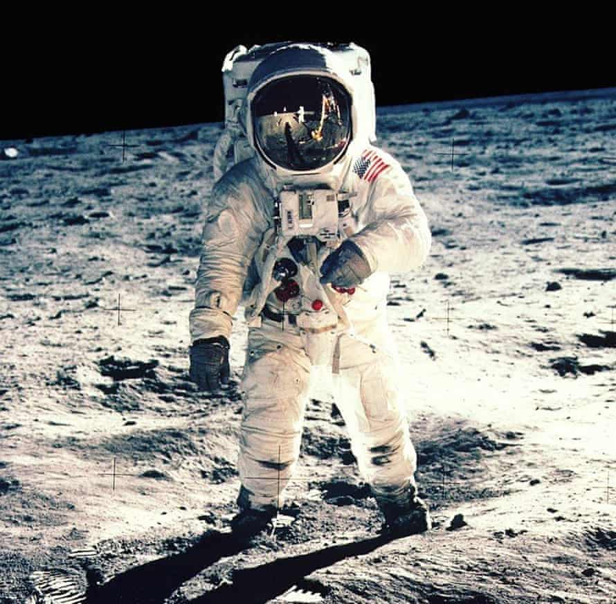 Buzz Aldrin working a strong look on the moon in 1969.