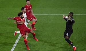 Mohamed Salah gets Liverpool back on level terms.