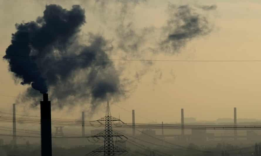 Smoke rises from a power plant in Bottrop, western Germany.