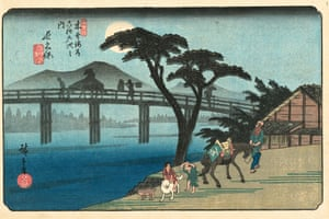 Nagakubo Station, 1836/37 (Hiroshige, plate 28)