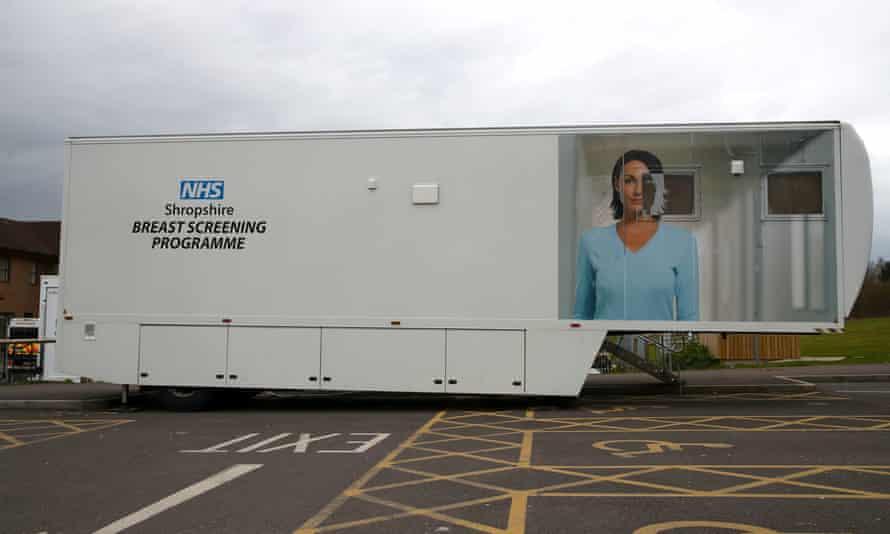 A breast screening Unit at Telford hospital.