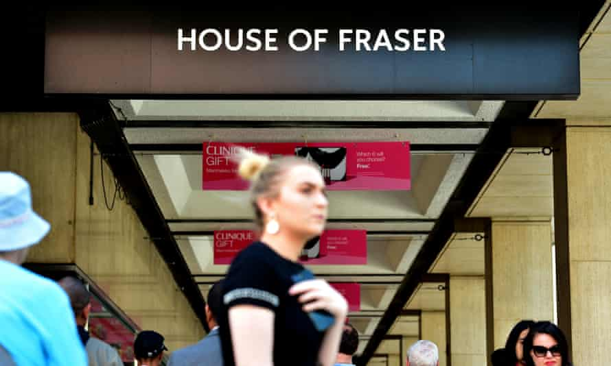 A House of Fraser store in Victoria, London