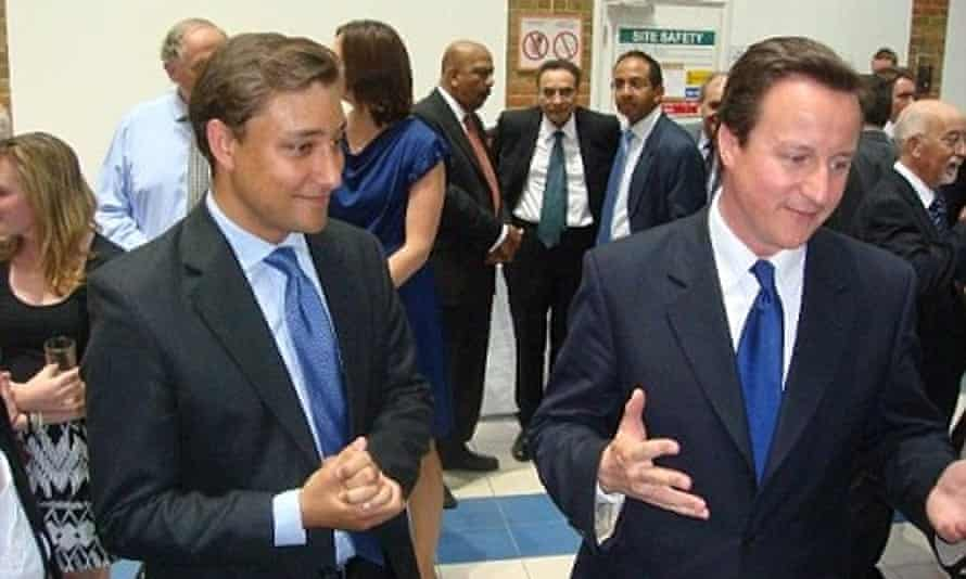 Mark Clarke and David Cameron at a Conservative party event