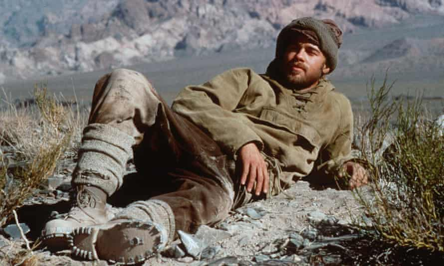 Brad Pitt as the Austrian mountaineer Heinrich Harrer in the film adaptation of Seven Years in Tibet.