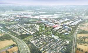 An artist's impression of the UK central Hub and HS2 interchange at Solihull