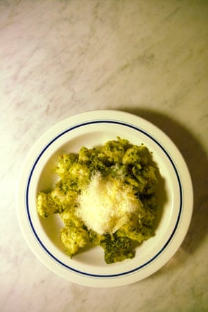 Thea Everett's broccoli pesto works well with anchovy and chilli.
