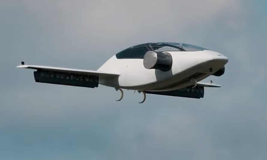 the lilium electric vtol jet in flight
