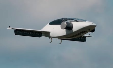 the lilium electric vtol jet in flight