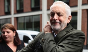 Jeremy Corbyn arrives at a meeting of the Labour party's NEC on 4 September 2018 in London