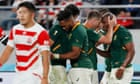 South Africa to face Wales in semi-final after grinding down Japan