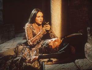 Olivia Hussey and Leonard Whiting in Zeffirelli's 1968 film.