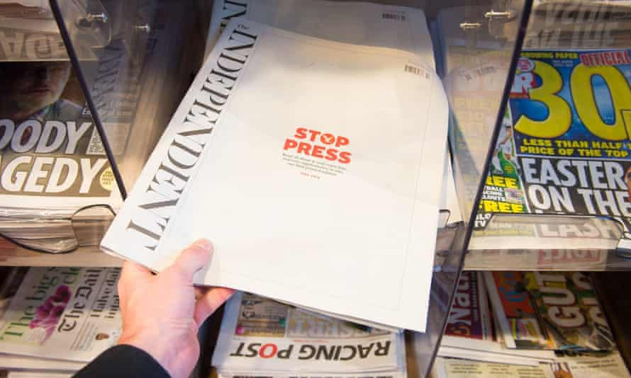 The print circulation of British newspapers has fallen steadily in recent years, claiming victims such as the Independent along the way.