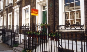 A Labour election poster outside a house in Islington, London.