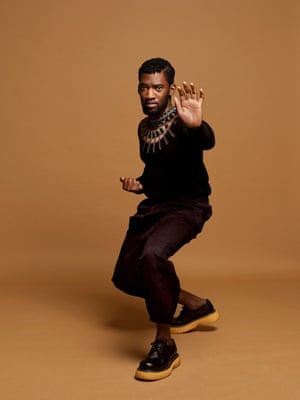 Malachi Kirby, known for his roles in Roots, and Small Axe, photographed in London to accompany an interview in the New Review.