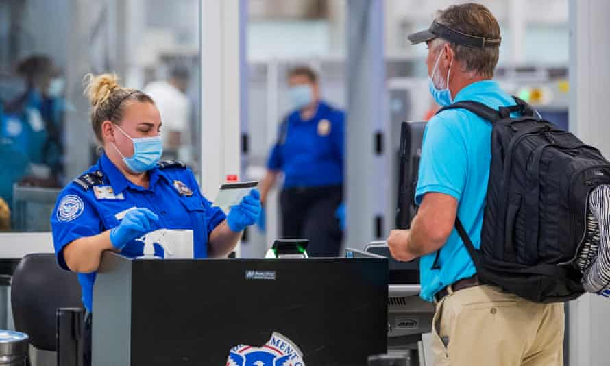 'When you see TSA numbers start to catch up, you'll know that the travel business is back in business – which means business is back in business.'