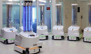 Danish UVD robots are helping to disinfect patient rooms during the coronavirus pandemic.