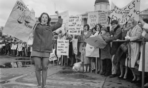 An equal pay for women demonstration in Trafalgar Square, 18 May 1969