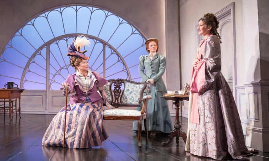 Simmering comic portrait … Jennifer Saunders, Ami Metcalf and Grace Molony in Lady Windermere's Fan.