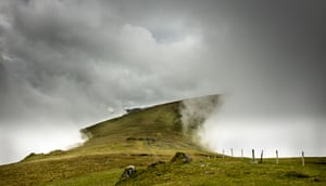 """Cloud Tunnel, Carneddau, north Wales, by Steve M Smith.  """"Barometric pressure was high, clear weather was forecast. On the hills we were shrouded until late morning when a clear way emerged along the ridge towards Foel Fras in the Carneddau."""""""