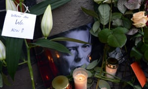 Tributes to David Bowie, Berlin, Germany