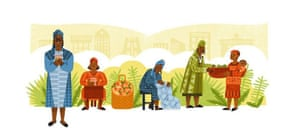 Google's image to celebrate Esther Afua Ocloo's achievements on what would have been her 98th birthday.
