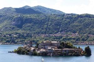 The island of Orta San Giulio, Lago d'Orta, northern Italy.