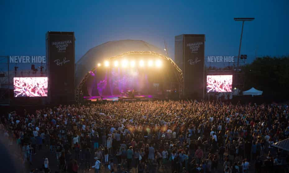 Primavera Sound Festival 2015. General View of the Ray Ban stage during the fourth day of Primavera Sound Festival on May 30, 2015 in Barcelona, Spain.